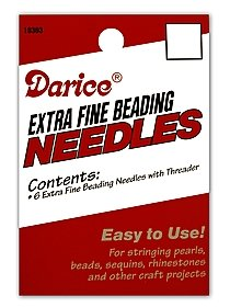 Extra Fine Beading Needles pack of 6