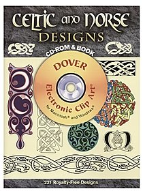 Celtic and Norse Designs: CD-ROM and Book