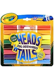 Heads 'n Tails Washable Markers
