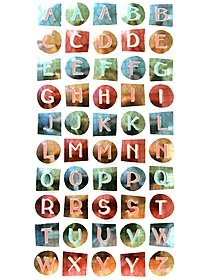 Style Dimensional Alphabet Stickers