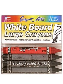 White Board Large Crayons