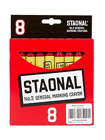 Staonal Extra Large Marking Crayons red box of 8 06847