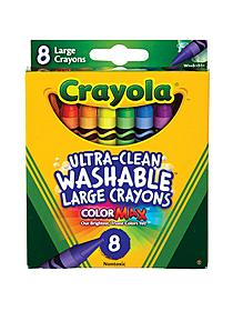 Ultra-clean Washable Large Crayons box of 8 40037