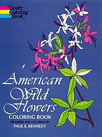 American Wildflowers Coloring Book