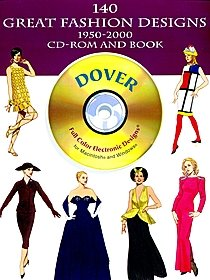 140 Great Fashion Designs 1950-2000 CD-ROM and Book
