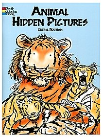 Animal Hidden Pictures Coloring Book