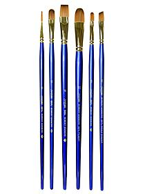 Sapphire Series Synthetic Brushes Long Handle