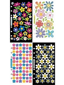 Simple Flower Sticker Collection