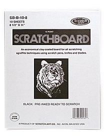 Black Coated Scratchboards