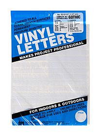 Vinyl Letters and Numbers Sets