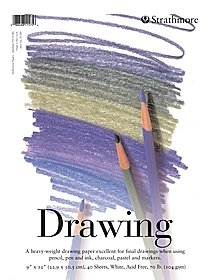 Student Art Drawing Paper Pad