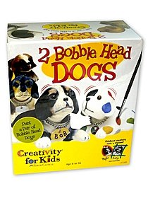 Set of Two Bobble-Head Dogs