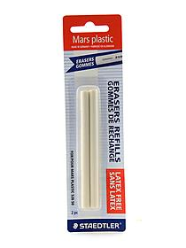 Mars White Plastic Stick Eraser and Refills