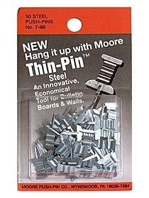 Thin-Pin Push Pins