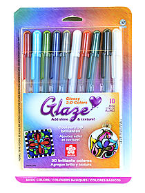 Gelly Roll Glaze Pens black pack of 2