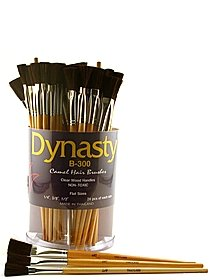 B-300 Camel Hair Flat Brushes in Canister