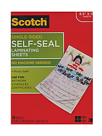 Self-Sealing Laminating Sheets
