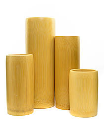 Bamboo Brush Holder medium