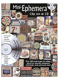 Mini Ephemera Clip Art & CD
