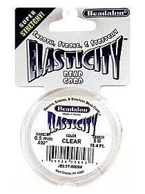 Elasticity Bead Cord 0.5 mm satin silver 16.4 ft.