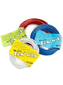 Fun Wire 24 gauge icy silver