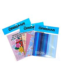 Origami Paper 5 7 8 in. x 5 7 8 in. lacy washi check pattern 24 sheets