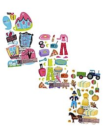 Classic Stickers honey bear n' bees 29 pieces 01962