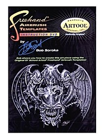 Freehand Airbrush Templates Instructional DVD by Bob Soroka DVD 45 minutes