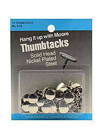 Solid Head, Nickel-Plated Thumbtacks