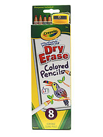 Washable Dry Erase Colored Pencils
