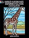 Wild Animals Stained Glass Coloring Book
