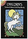 Unicorns Stained Glass Coloring Book