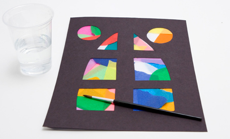 Make Your Own Stained Glass Window Craft Idea Misterart Com