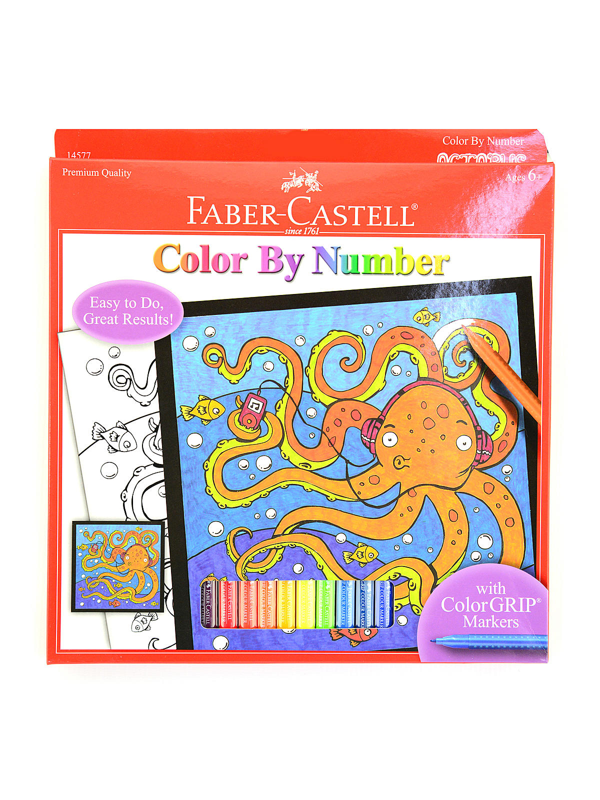 Colour By Number Kits : Faber Castell Color by Number with Markers Kits MisterArt.com