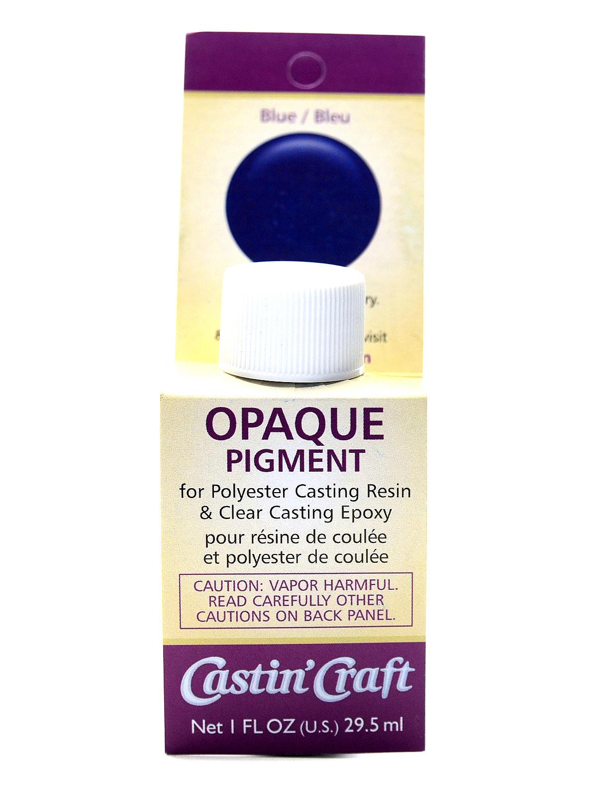 Castin craft color pigment - Opaque Pigments Blue Bottle 1 Oz