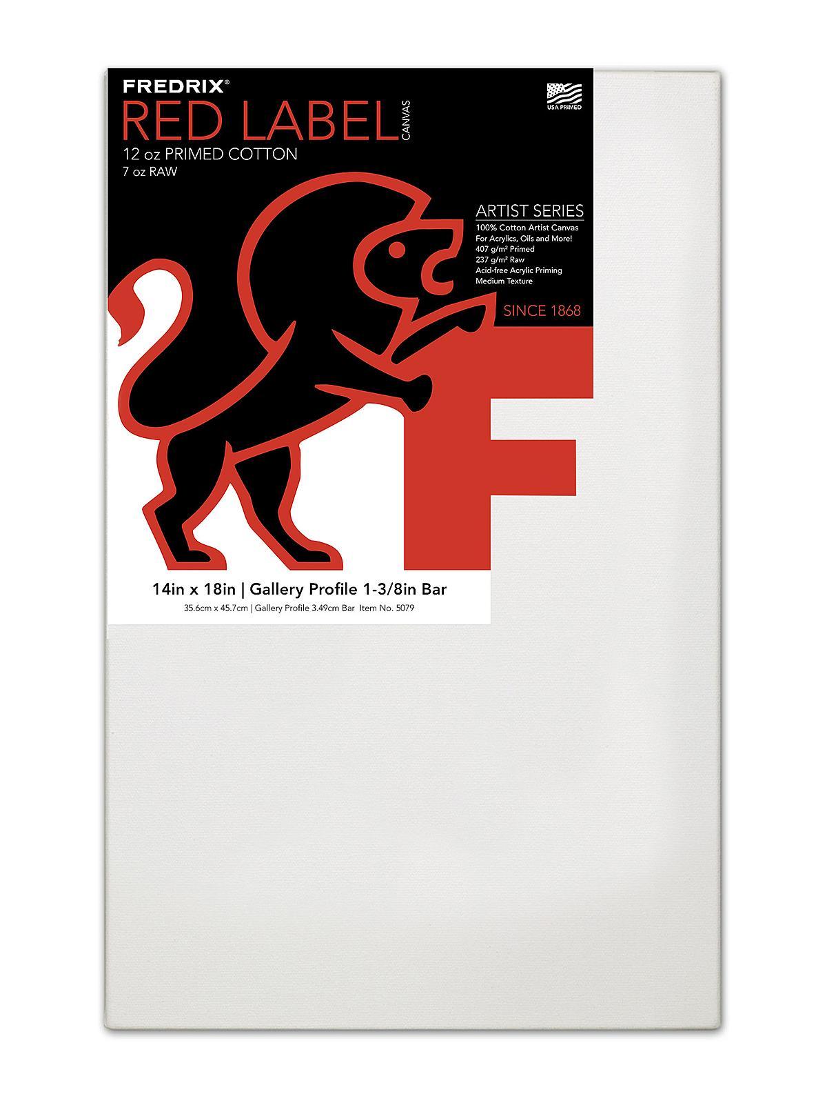 Fredrix Gallerywrap Stretched Canvas   MisterArt.com