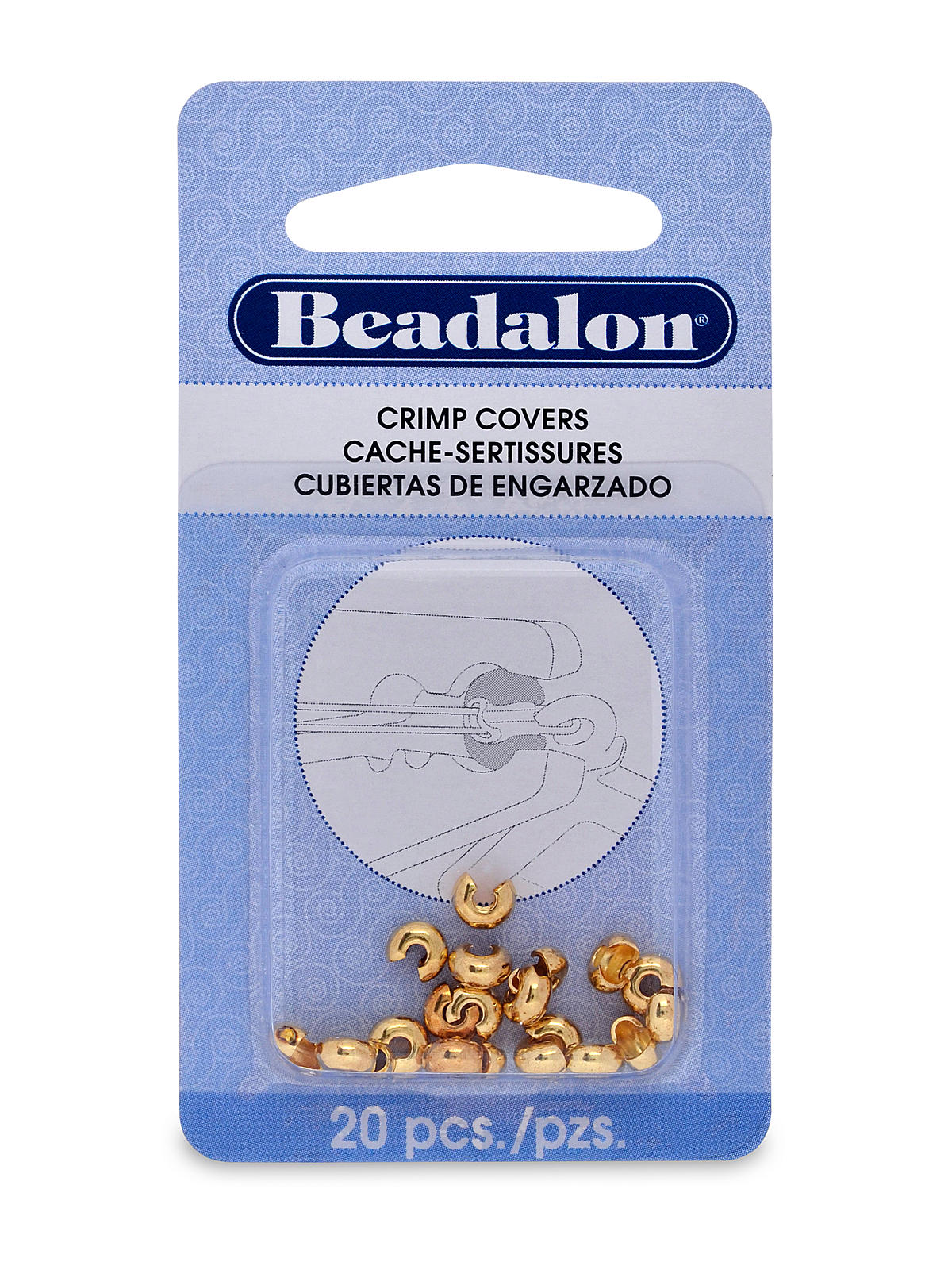 Crimp Covers 4 Mm Gold Pack Of 20