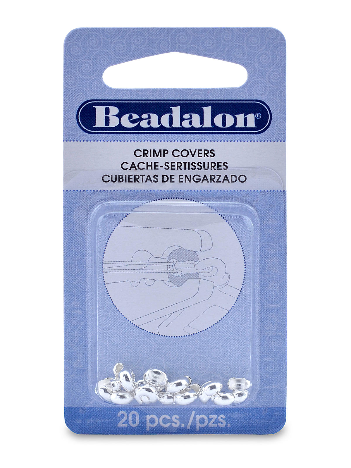 Crimp Covers 4 Mm Silver Pack Of 20