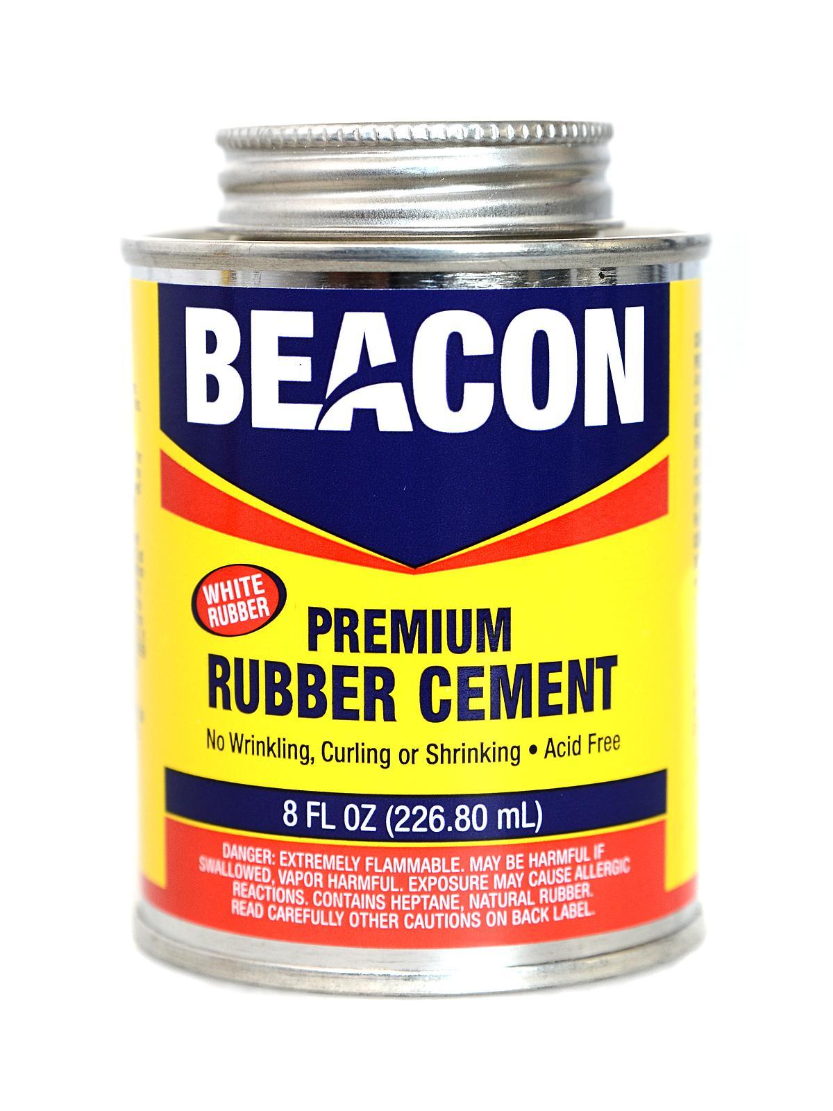 Premium Acid Free White Rubber Cement 8 Oz.