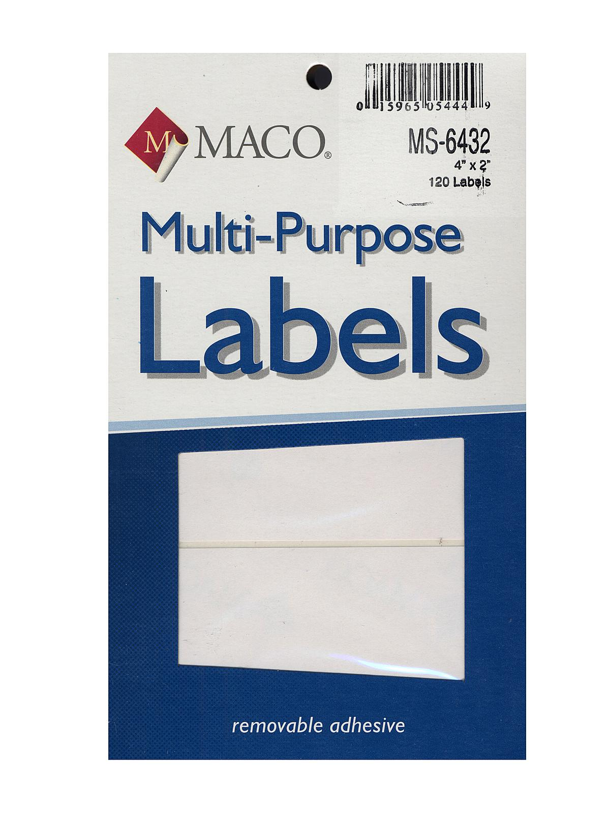 Maco multi purpose handwrite labels misterart multi purpose handwrite labels rectangular 4 in x 2 in pack of 120 pronofoot35fo Choice Image