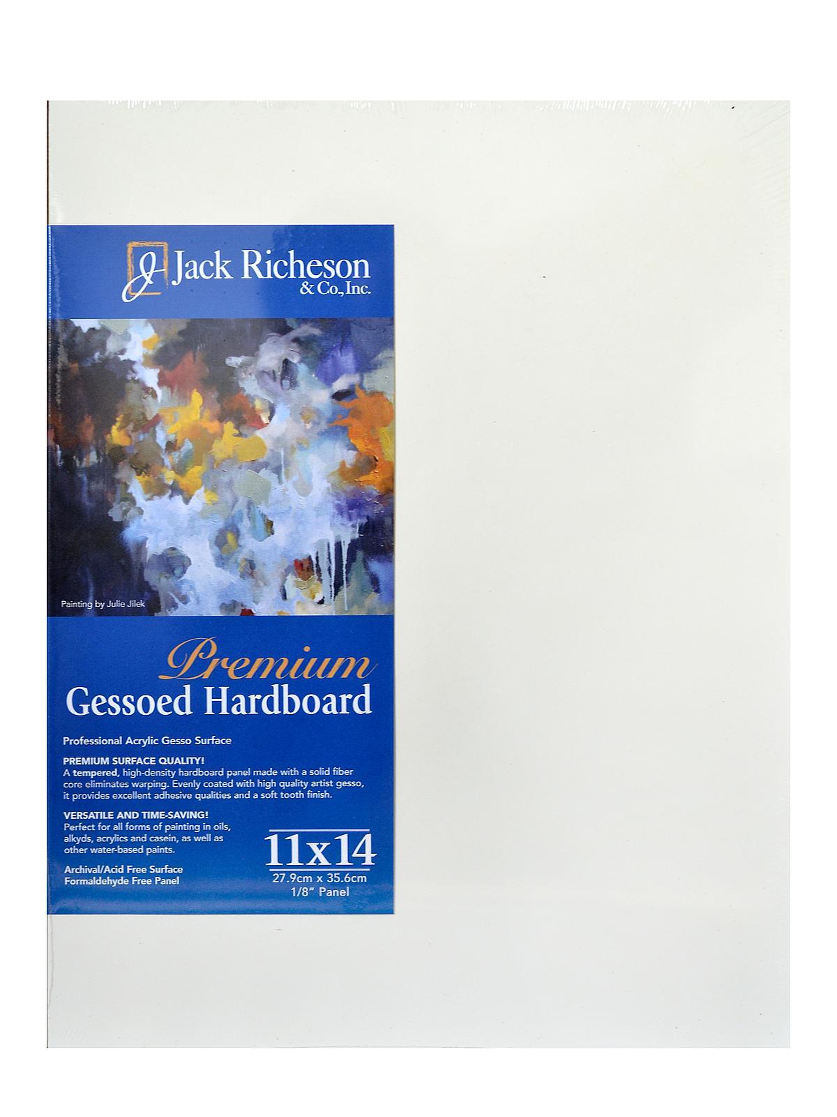 8 x 10 x 3//16/'/' Masonite Hardboard Gessoed panelGesso BoardPack of 10