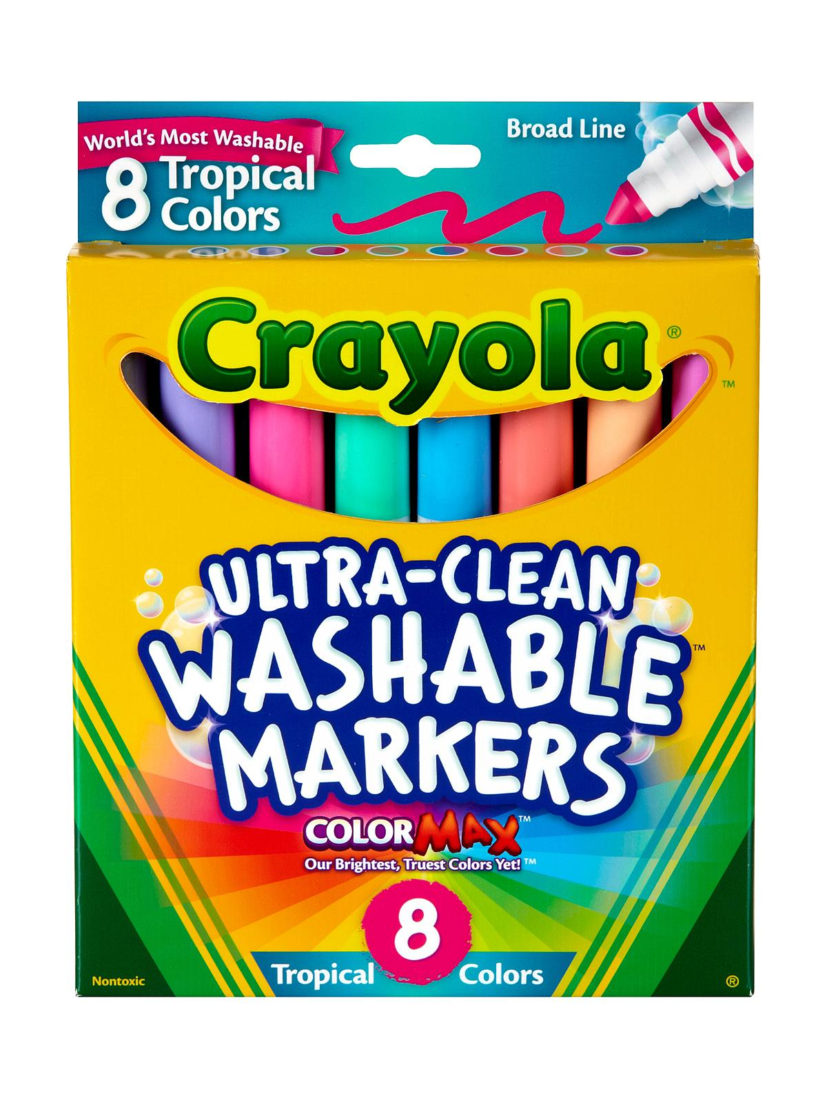 Crayola Tropical Colors Ultra-Clean Washable Markers   MisterArt.com