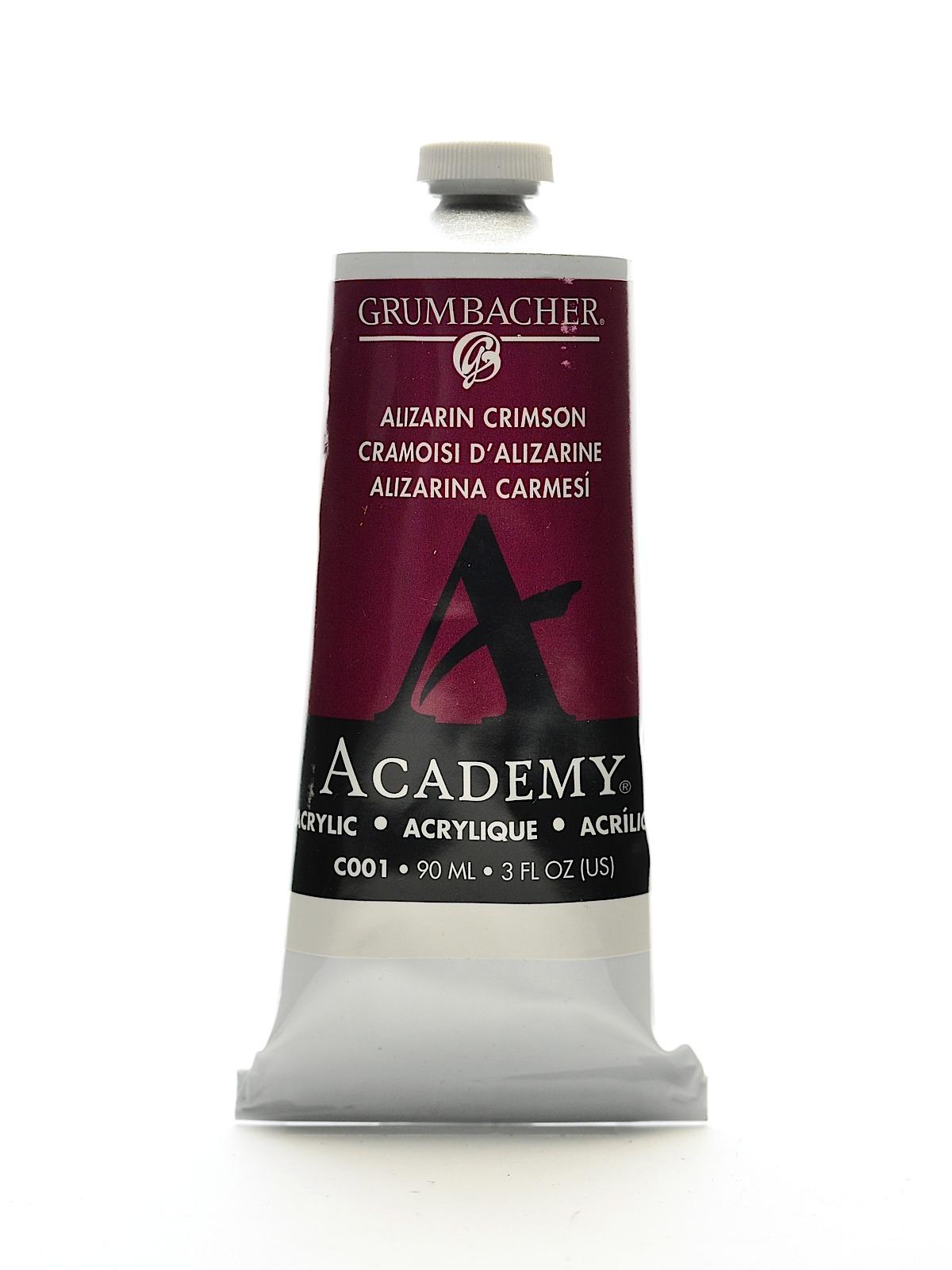 Academy Acrylic Colors alizarin crimson 3 oz. (90 ml)
