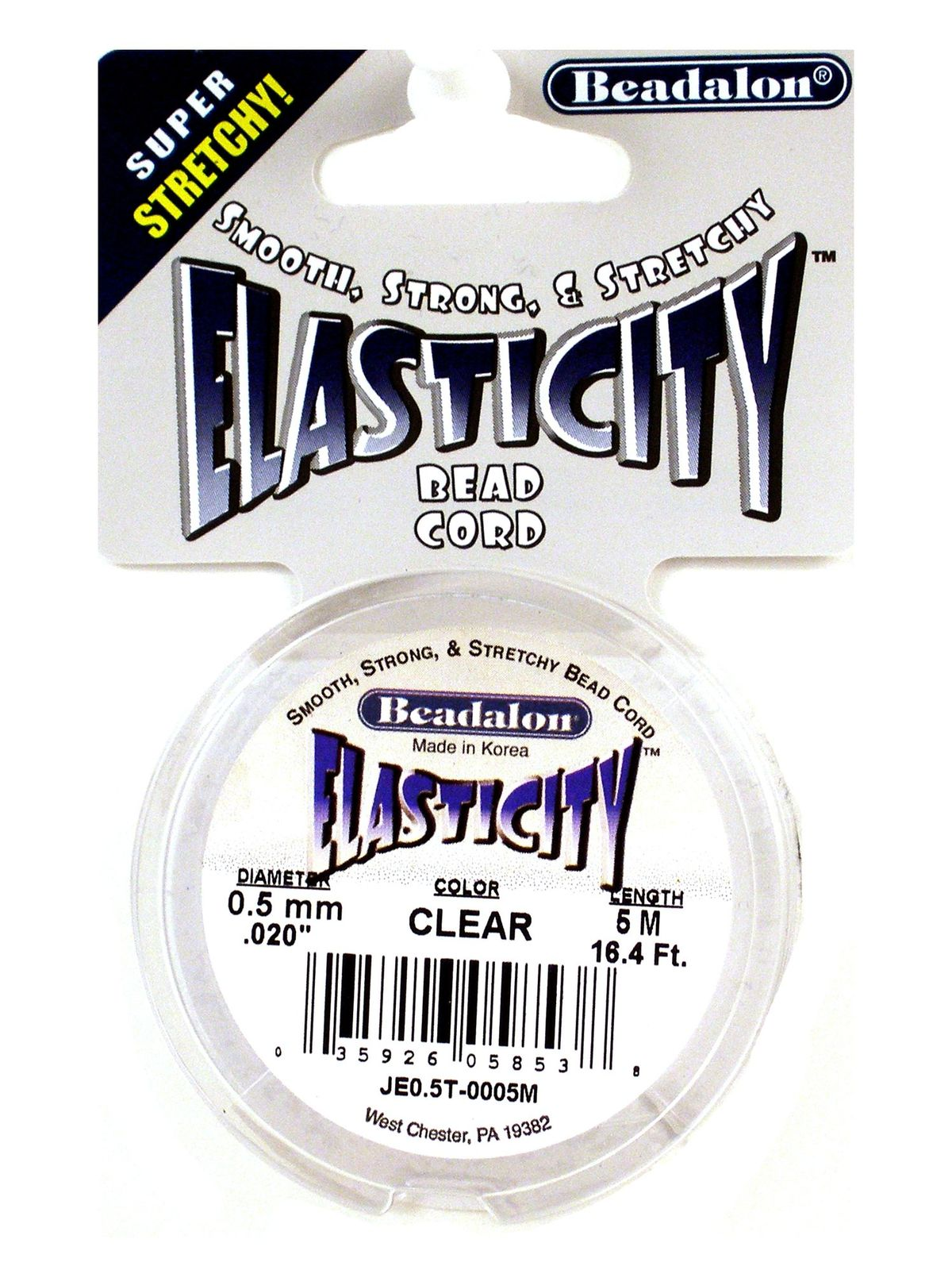 Elasticity Bead Cord 0.5 Mm Clear 16.4 Ft.