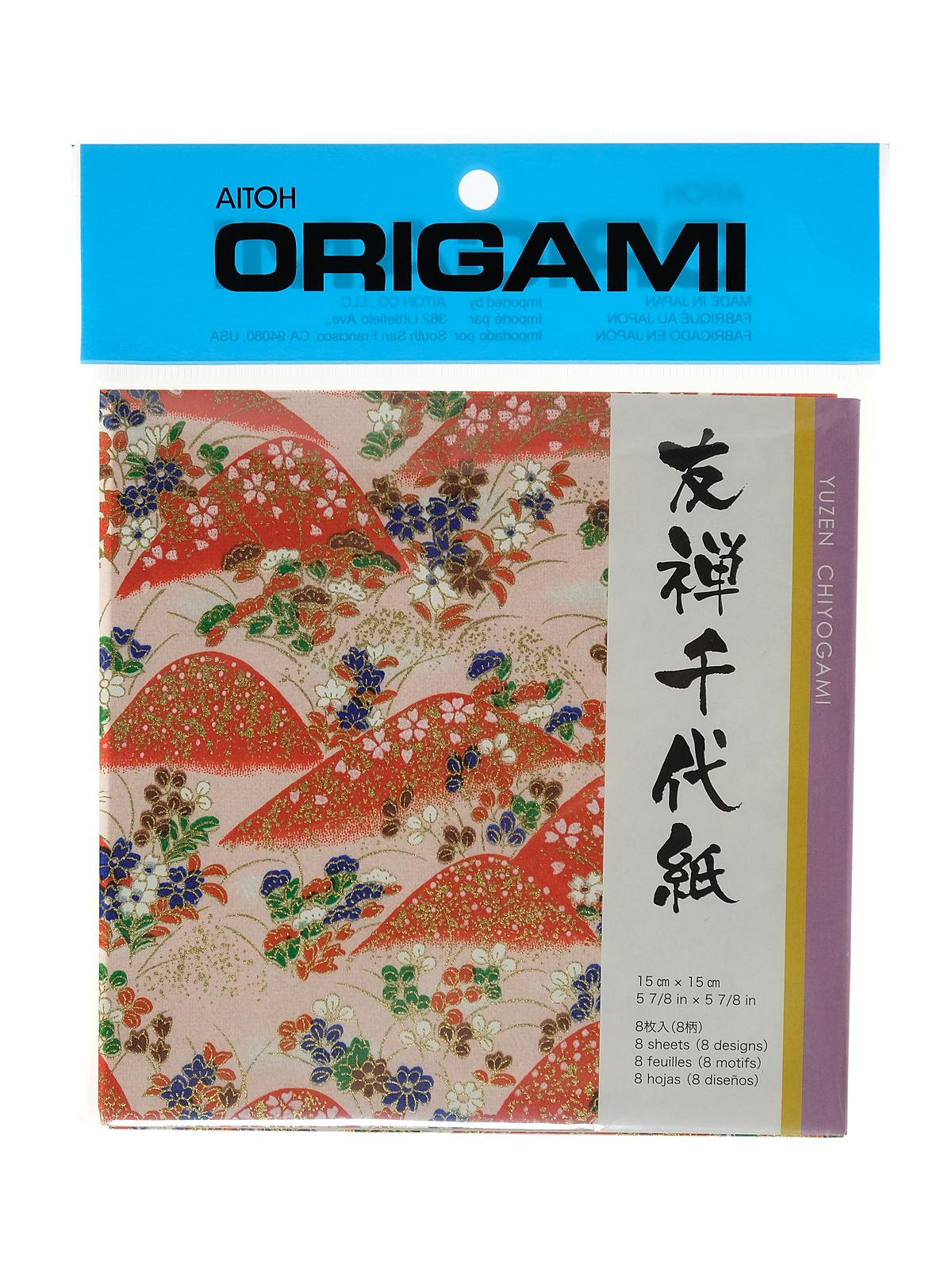 Origami Paper 6 In. X 6 In. Yuzen Chiyogami 8 Sheets