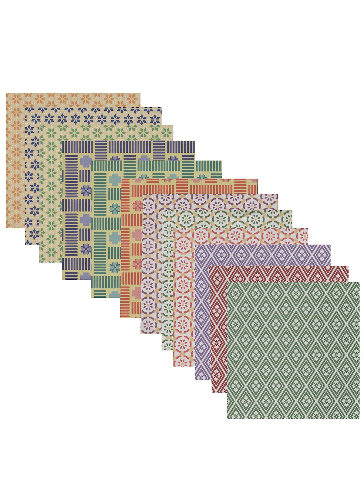 Origami Paper 6 In. X 6 In. Komon Chiyogami 48 Sheets