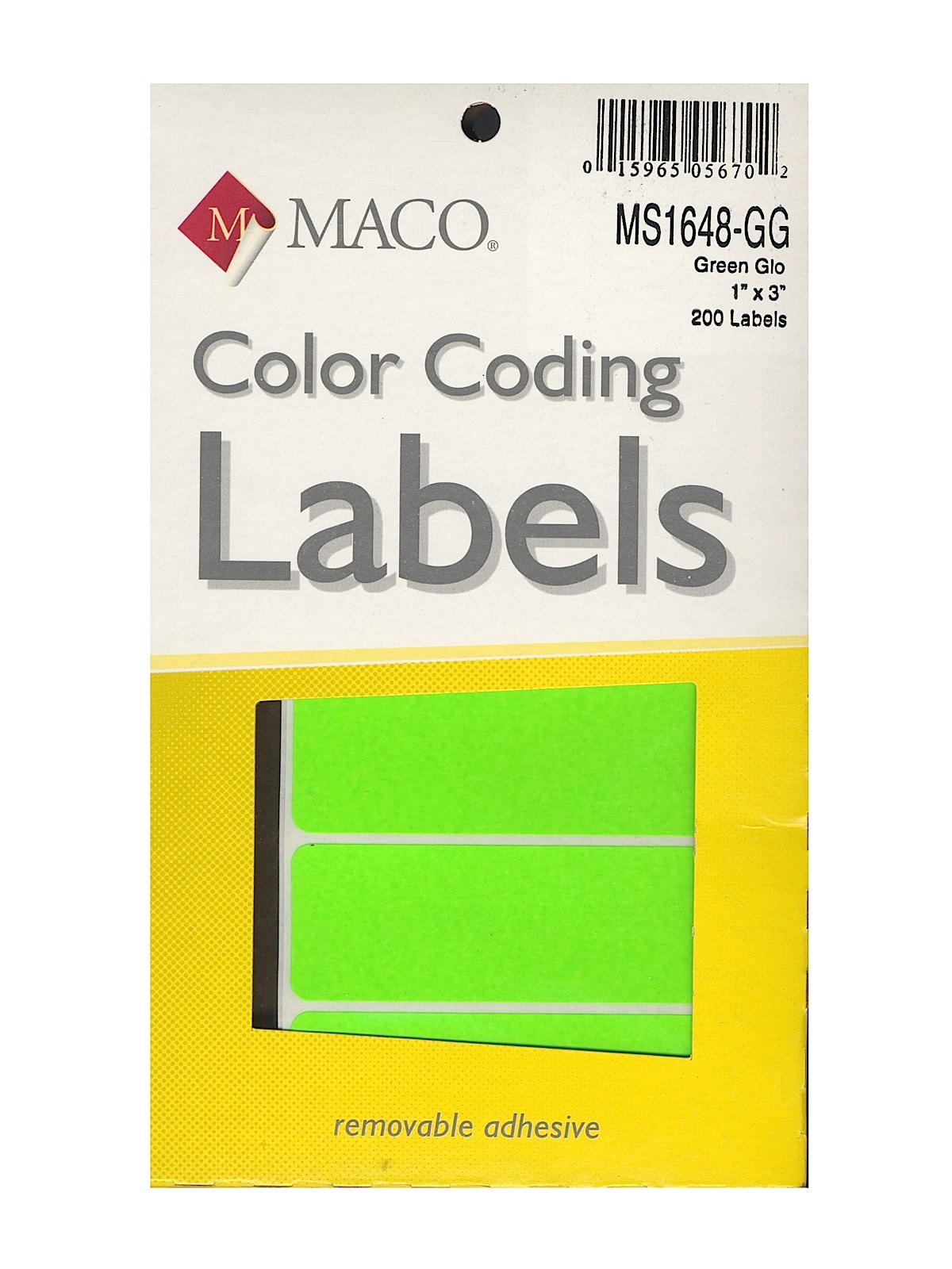 Maco Color Coding Labels | MisterArt.com