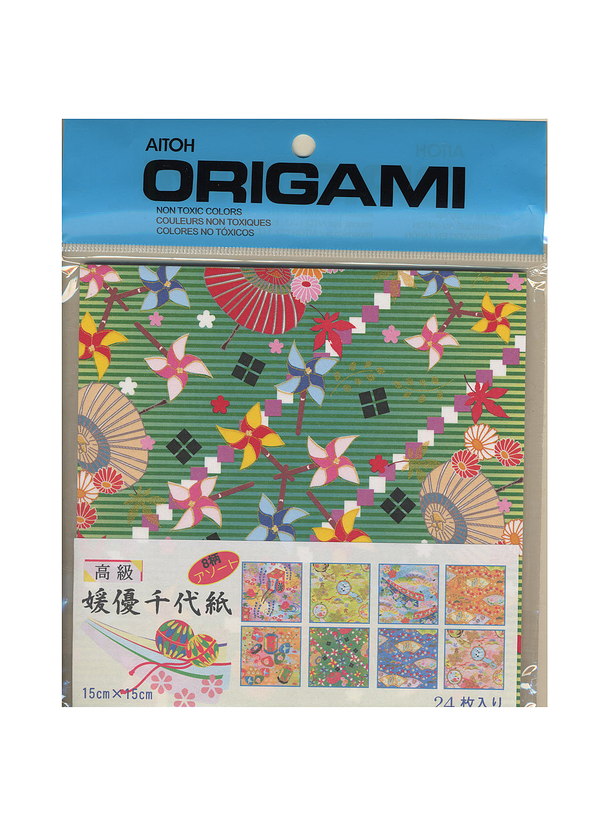 Origami Paper 6 In. X 6 In. Himeyu Chiyogami 24 Sheets