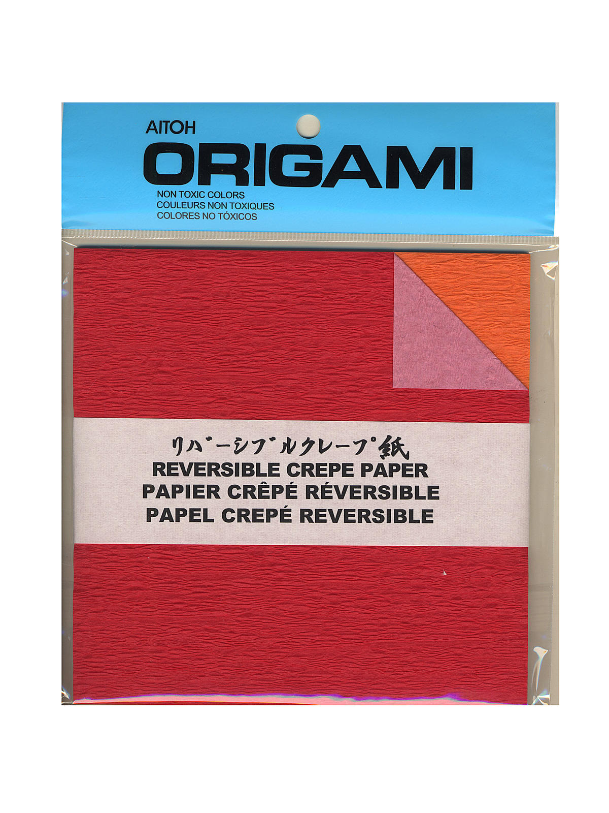 Origami Paper 6 In. X 6 In. Reversible Crepe 24 Sheets