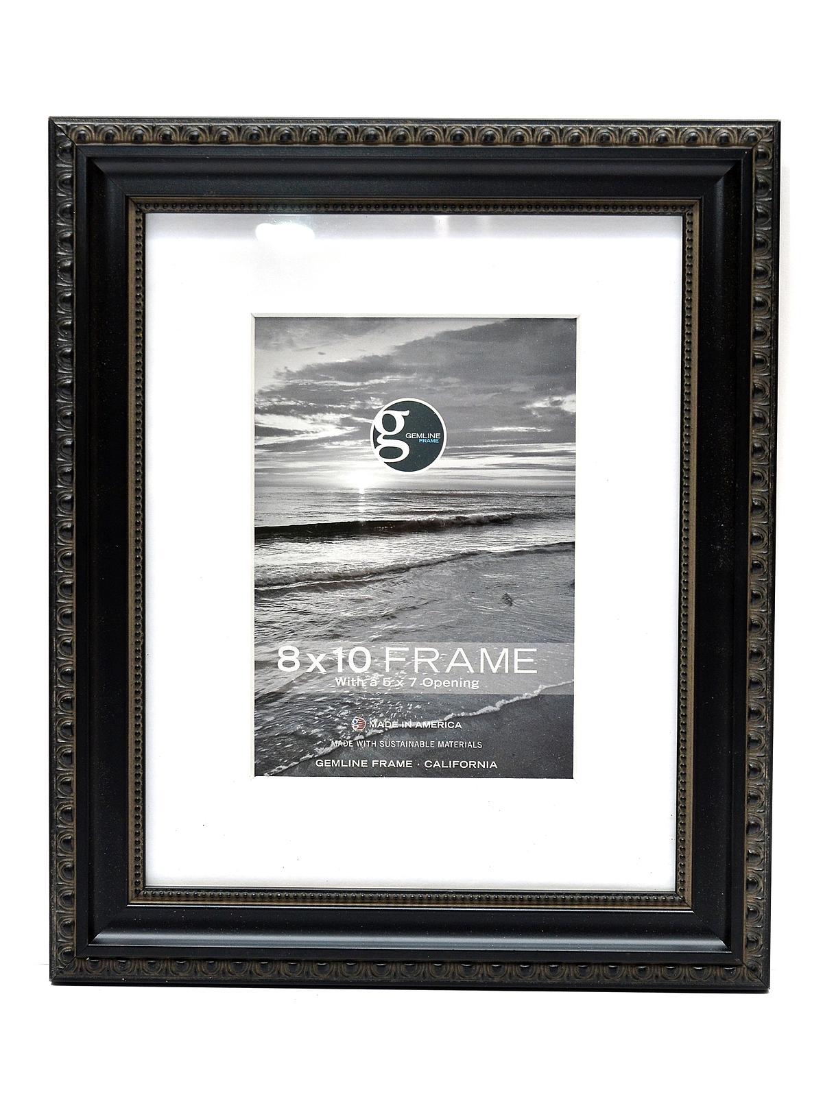 012 Designer Edge With Beaded Lip Frame 8 In. X 10 In. Black 5 In. X 7 In. Opening